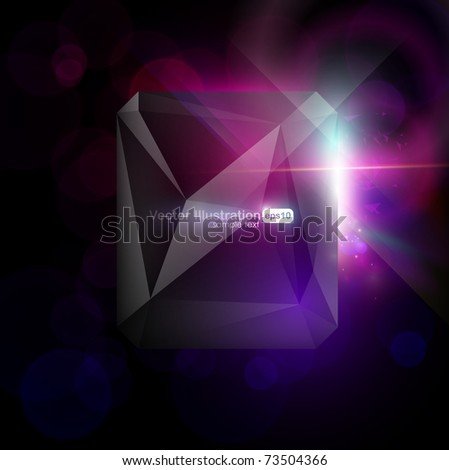 Vector. Eps10. Abstract modern design with space for your message. All elements are editable. - stock vector