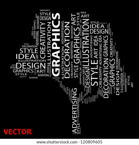 Vector eps concept or conceptual abstract tree shape isolated on black background  metaphor to design,graphic,nature,ecology,child,young,idea,style,creative,fashion,artist ,art,decor abstract project - stock vector