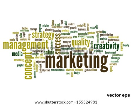 Vector eps concept or conceptual abstract word cloud on white background as metaphor for business,trend,media,focus,market,value,product,advertising or customer.Also for corporate wordcloud - stock vector