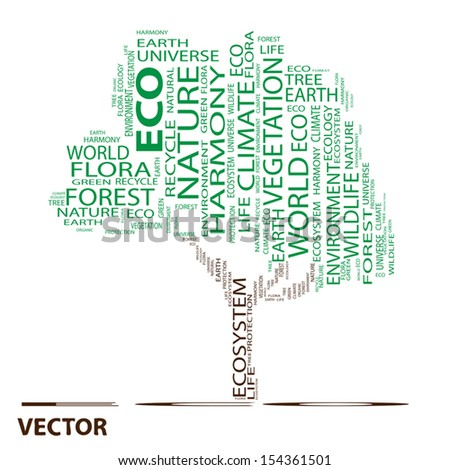 Vector eps concept or conceptual green text word cloud or tagcloud as a tree isolated on white background as metaphor for health,nutrition,diet,wellness,body,energy, medical,sport, heart or science