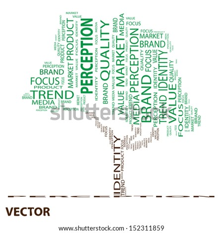 Vector eps concept or conceptual tree word cloud on white background as metaphor for business,brand,trend,quality, media,focus,market,value,product,advertising or customer.Also for corporate wordcloud - stock vector