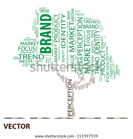 Vector eps concept or conceptual tree word cloud on white background as metaphor for business,trend,media,focus,market,value,product,advertising or customer.Also for corporate wordcloud - stock vector