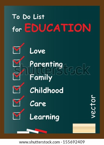 Vector eps concept or conceptual white chalk text word cloud or tagcloud as blackboard frame background as a metaphor for child,family,education,life,home,young,care,love and school learn achievement