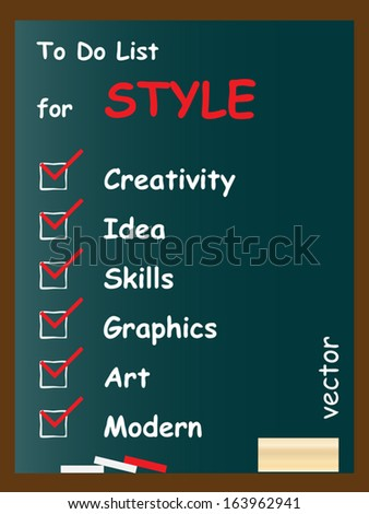 Vector eps concept or conceptual white chalk text word cloud tagcloud as blackboard background,metaphor to art,style,graphics,creativity,idea,modern,ornament,creative,advertising,vision artwork