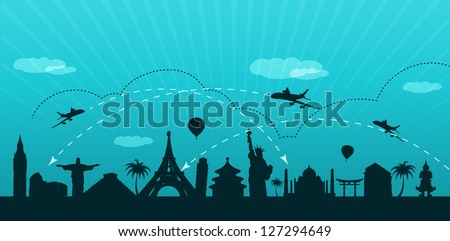Vector EPS 10-Travel the world concept - stock vector