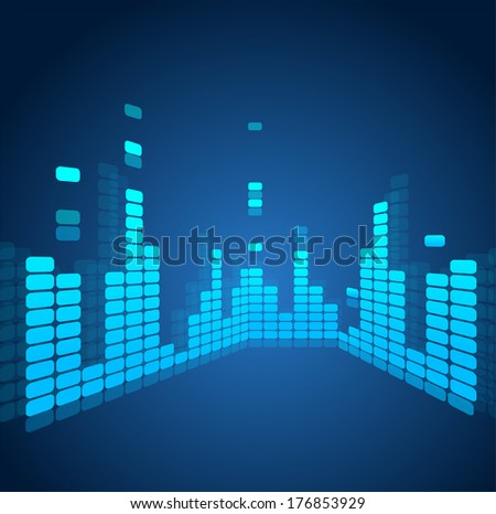 Vector equalizer, colorful musical bar - stock vector