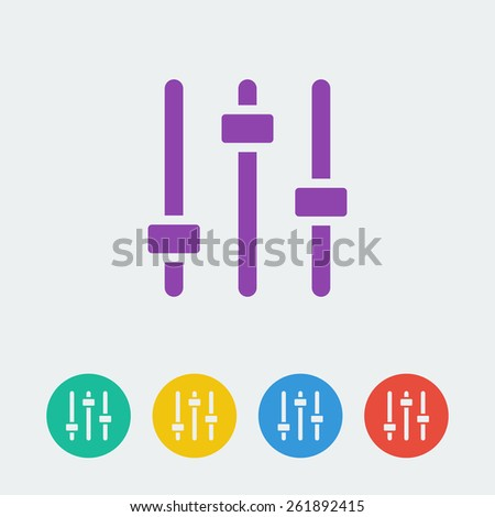 Vector equalizer icon. File format eps 10  - stock vector