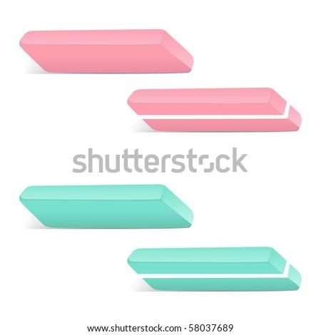 Vector eraser - stock vector