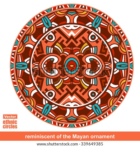Vector ethnic circle / labels, vector - stock vector