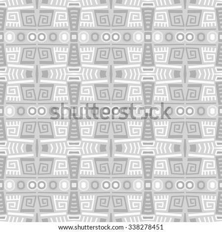 Vector ethnic pattern (seamless) - stock vector
