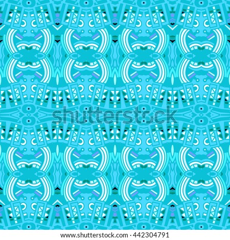 Vector - Ethnic tile. Pattern from ornamental elements. Can be used for wallpaper, pattern fills, web page background,surface textures.