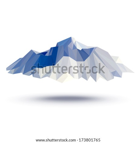 Vector - Everest (illustration of a many triangles) - stock vector