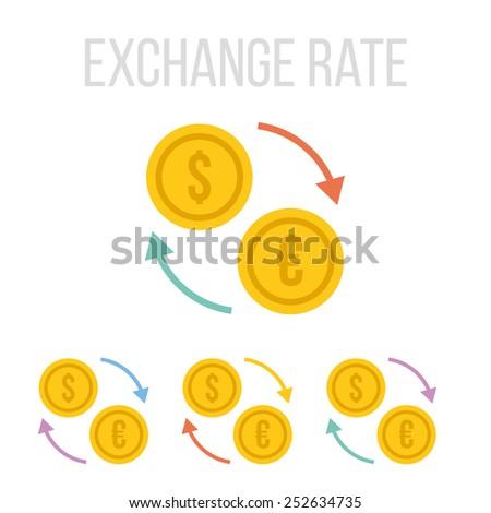 Vector exchange rate icons.  - stock vector