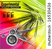 VECTOR experimental extreme sound template - stock vector
