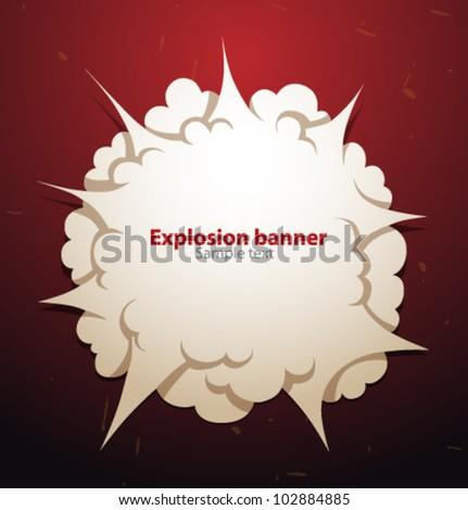 Vector explosion banner - stock vector