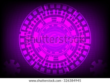 vector eyeball future technology, security concept background - stock vector