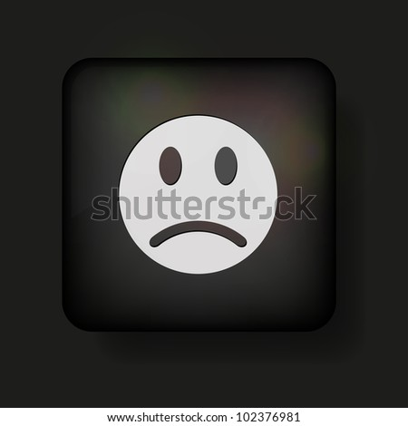 Vector face icon on black. Eps 10 - stock vector