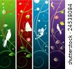 vector fairy banners - stock vector