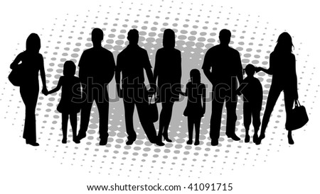 vector family silhouette