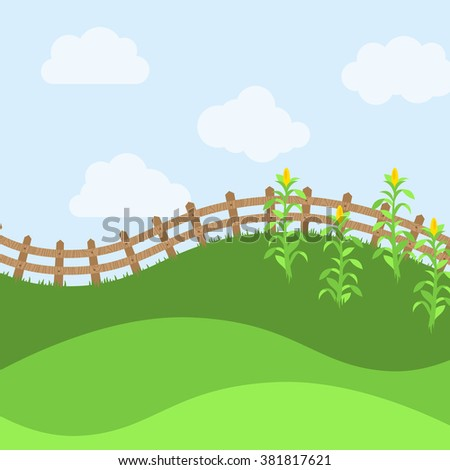Vector Farm or Agriculture Themed Background - stock vector