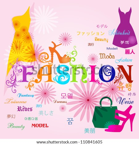 Vector fashion background / Fashion Typography design - stock vector