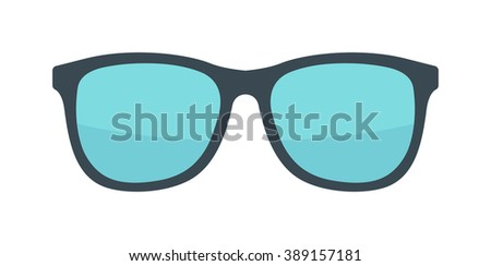 Vector fashion glasses isolated on white. Fashion glasses. Hipster fashion glasses. Summer  fashion glasses vector illustration. Sunglasses isolated vector illustration. Glasses isolated flat - stock vector