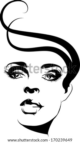 Vector fashion portrait - stock vector