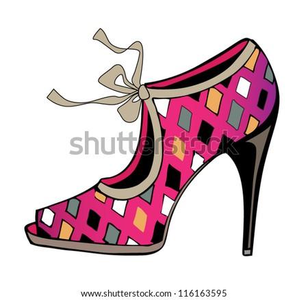 vector fashion shoe - stock vector