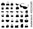 vector fashion silhouettes - stock photo