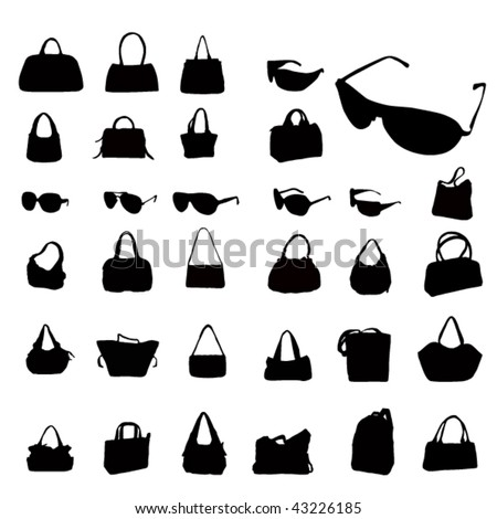 vector fashion silhouettes - stock vector