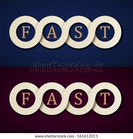 vector fast paper icons design template - stock vector