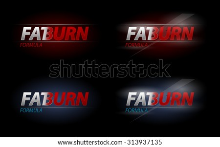 Vector Fat Burn text for dieting or sport nutrition concept, eps10  - stock vector