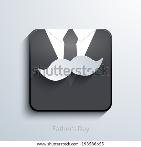 Vector fathers day app icon. Eps 10 illustration - stock vector