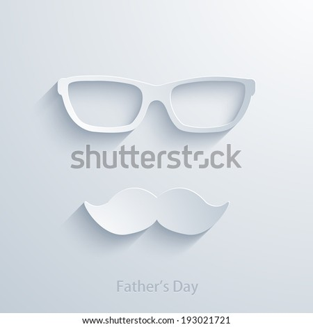 Vector fathers day background. Eps 10 illustration - stock vector