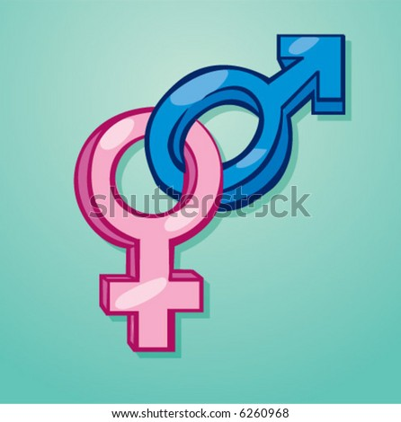 vector female and Male sex symbols