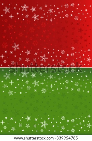 Vector Festive Snowflakes Background with Space for Text