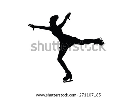 ice skater silhouette stock images, royalty-free images & vectors