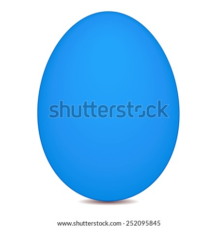 vector file of blue egg - stock vector