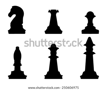 vector file of chess silhouette