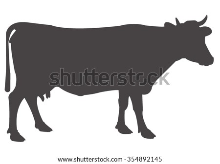 vector file of cow silhouette