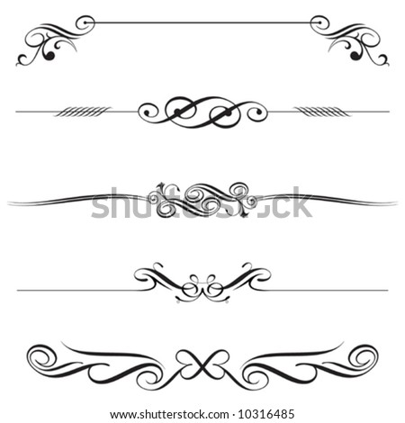 vector file of horizontal elements decoration design - stock vector