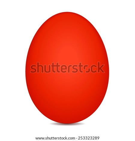 vector file of red egg