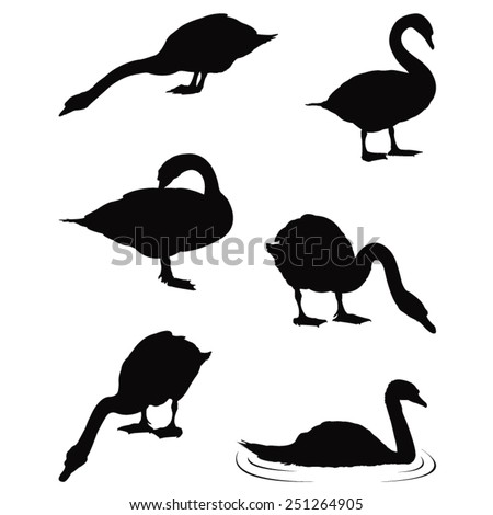 vector file of swan silhouette