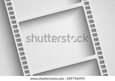 vector film reel background - stock vector