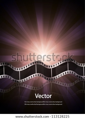 Vector film reel cinema background - stock vector