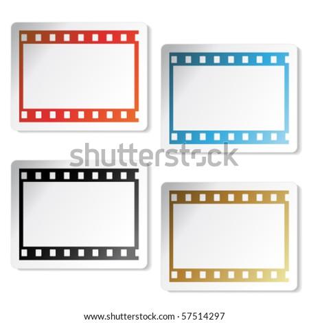 Vector film stickers - stock vector