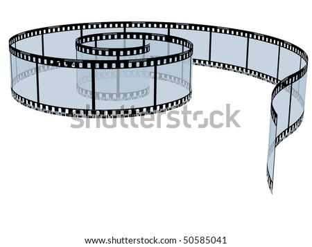 Vector film strip. - stock vector