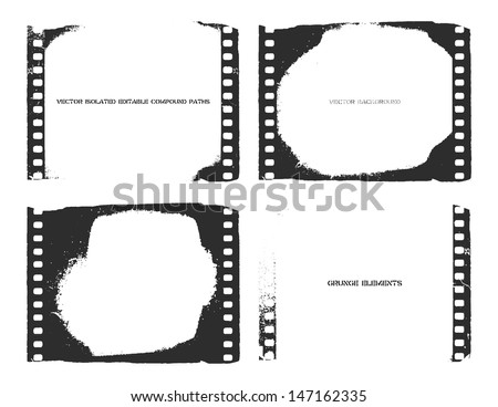 Vector film strip illustration. Eps8 - stock vector