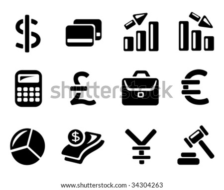 Vector: Finance and banking icons - stock vector