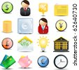 Vector Finance  color web set  of 16 icons - stock photo